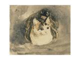 Cat Giclée-tryk af Gwen John