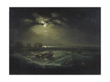Fishermen at Sea Giclee-trykk av J. M. W. Turner
