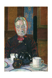 Mrs Mounter at the Breakfast Table Giclée-tryk af Harold Gilman