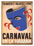 Cuba - Carnaval en la Habana Poster af  Pacifica Island Art
