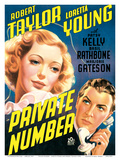 Private Number - starring Loretta Young and Robert Taylor Poster von  Pacifica Island Art