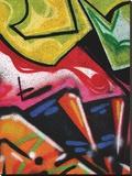 Colorful Graffiti (detail Stretched Canvas Print by Jenny Kraft