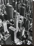 Chrysler Building Bedruckte aufgespannte Leinwand von Chris Bliss