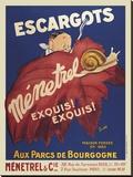 Escargots Menetrel キャンバスプリント : ビンテージポスター