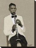 Clarinet Player Impressão em tela esticada por William Buffett