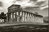 Greek Temple Stretched Canvas Print by Chris Bliss