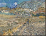 Landscape at Saint-Remy (Enclosed Field with Peasant), 1889 Stretched Canvas Print by Vincent van Gogh