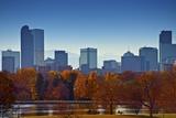 City of Denver Skyline Reproduction photographique par  duallogic