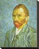 Self Portrait Trykk på strukket lerret av Vincent van Gogh