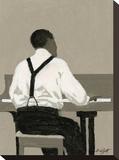 Piano Player Opspændt lærredstryk af William Buffett