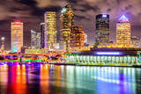 Tampa, Florida, USA Downtown City Skyline on the Hillsborough River. Stretched Canvas Print by  SeanPavonePhoto