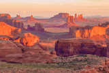 Sunrise at Hunts Mesa Viewpoint Premium fotografisk trykk av  aiisha