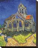 The Church at Auvers Bedruckte aufgespannte Leinwand von Vincent van Gogh