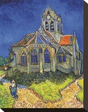 The Church at Auvers Stretched Canvas Print by Vincent van Gogh