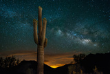 Saguaro Cactus and Milky Way Fotografie-Druck von  raphoto