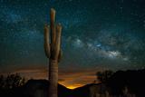 Saguaro Cactus and Milky Way Impressão fotográfica premium por  raphoto