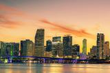 Famous City of Miami, Summer Sunset Fotografie-Druck von  prochasson
