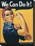 We Can Do It! Stretched Canvas Print by J.H. Miller
