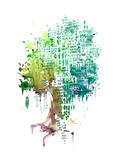 Nature and Technology Kunstdrucke von  okalinichenko