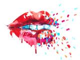 Lips Posters by  okalinichenko