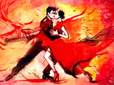 Tango Kunstdrucke von  okalinichenko