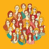 Big Group Women round Color Plakater af  Karrr