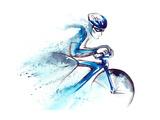 Racing Cyclist Premium Giclee Print by  okalinichenko