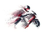 Motorcycle Racer Poster von  okalinichenko