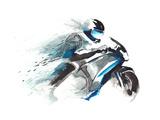 Motorcycle Racer Affiches par  okalinichenko