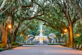 Savannah, Georgia, USA at Forsyth Park Fountain. Photographic Print by  SeanPavonePhoto