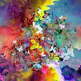 Butterflies Abstract Kunstdrucke von  reznik_val