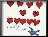I Love You So, c. 1958 Kunst van Andy Warhol