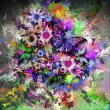 Butterfly Multicolor Posters af  reznik_val