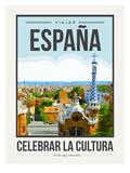 Travel Poster Spain Poster di Brooke Witt