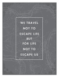 Type Travel Quote Arte por Brooke Witt