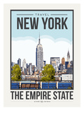 Travel Poster New York City Posters par Brooke Witt