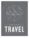 Type When in Doubt Travel Láminas por Brooke Witt