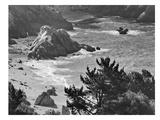 Pacific Ocean Seascape 52 B+W Affiche par Murray Bolesta