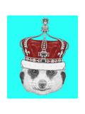 Portrait of Mongoose with Crown. Hand Drawn Illustration. Arte por  victoria_novak