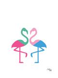 Flamingo Two Print by Ashlee Rae
