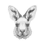 Portrait of Mongoose with Mirror Sunglasses. Hand Drawn Illustration. Pósters por  victoria_novak