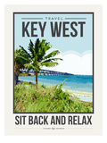 Travel Poster Keywest Affiches par Brooke Witt
