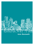 Skyline Boston 4 Affiches par Brooke Witt