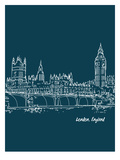 Skyline London 3 Affiche par Brooke Witt