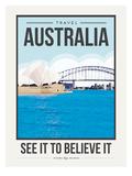 Travel Poster Australia Stampe di Brooke Witt
