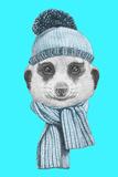 Portrait of Mongoose. Hand Drawn Illustration. Láminas por  victoria_novak