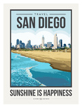 Travel Poster San Diego Posters par Brooke Witt
