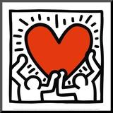 Zonder titel, ca 1988 Kunst op hout van Keith Haring