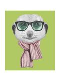 Portrait of Mongoose. Hand Drawn Illustration. Lámina giclée prémium por  victoria_novak