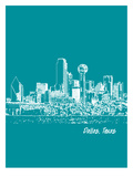 Skyline Dallas 4 Affiches par Brooke Witt